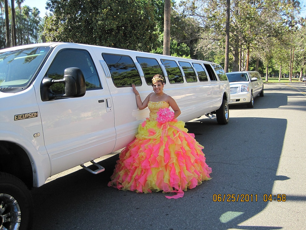White Stretch Suv Wedding Limo Highland