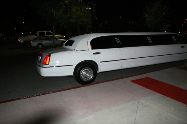 White Limo Car Highland