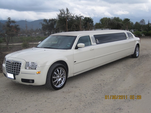 Highland White Limousine Car